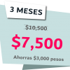 3 Meses 7500